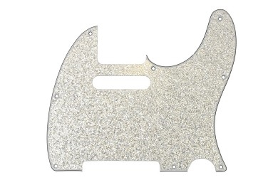 Tele 4-lager Glass Silver Sparkle
