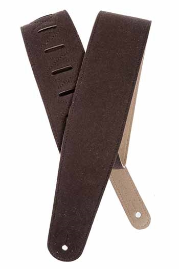Planet Waves Brown Suede guitar strap