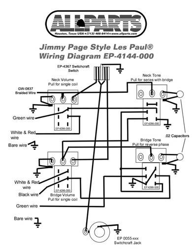 Kopplingsset Fr Les Paul Jimmy Page